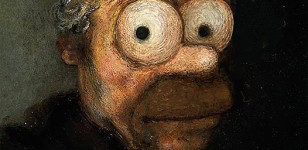 Les simpsons en oeuvres d'art