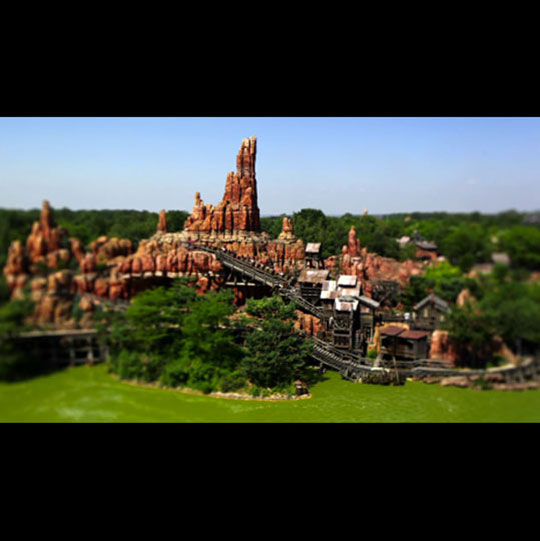 Disneyland tilt-shift