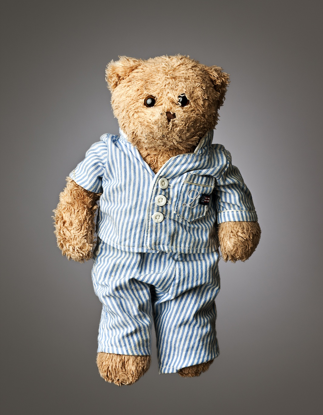 "Beary, Age: 6, Height: 12"", Belongs to: Tom O'Connor Jr."