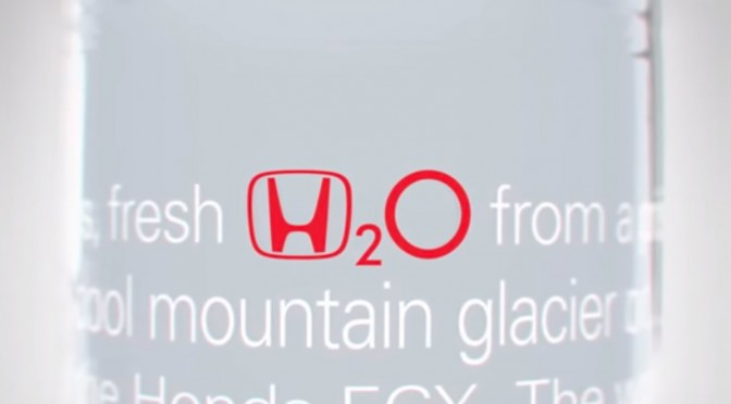 Honda H2O, de l'eau de source