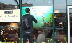 Starbucks – vitrines interactives